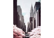 Graham & Brown Pink 42nd Street Printed Canvas