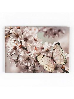 Butterfly Branch Glitter Canvas