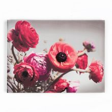 Graham & Brown Red Bold Bouquet Glitter Canvas