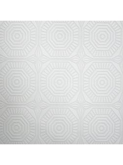White Kelly Hoppen Geo Panel Wallpaper