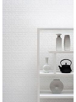 White Kelly Hoppen Screen Panel Wallpaper