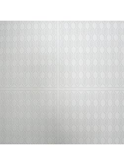 White Kelly Hoppen Hix Panel Wallpaper