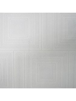 White Kelly Hoppen Square Panel Wallpaper