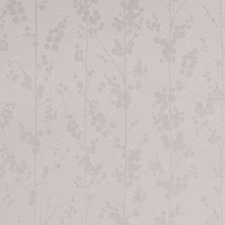 Graham & Brown White / Mica Berries Wallpaper
