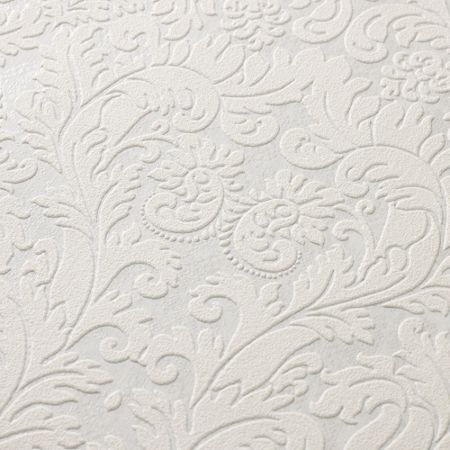 Graham & Brown White / Mica Geneva Wallpaper