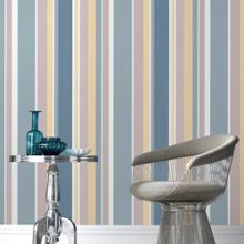Graham & Brown Blue Rico Striped Wallpaper