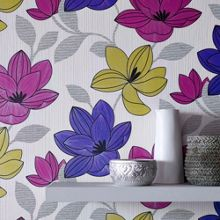 Graham & Brown Pink Superflora Wallpaper