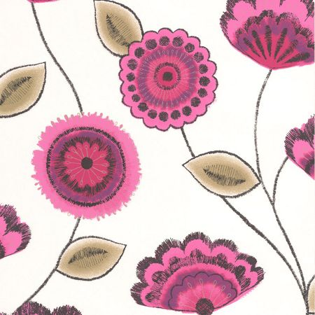 Graham & Brown Pink Romany Wallpaper