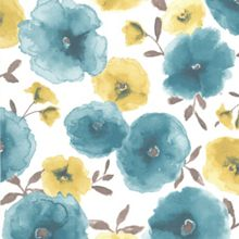 Graham & Brown Teal Poppies Wallpaper