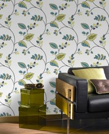 Graham & Brown Green Folklore Wallpaper