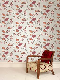 Graham & Brown Orange Folklore Wallpaper