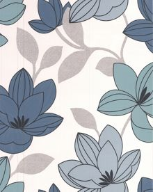 Graham & Brown Blue Superflora Wallpaper