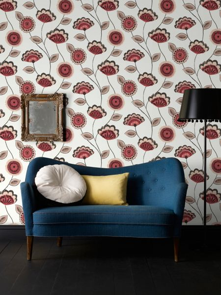Graham & Brown Red Romany Wallpaper