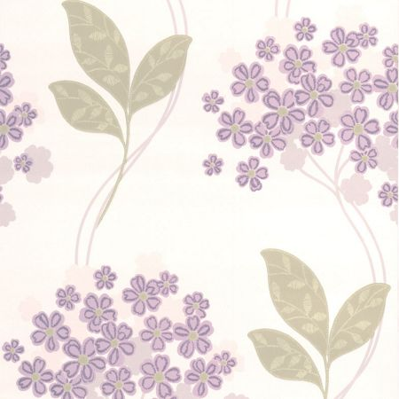 Graham & Brown Purple Festival Wallpaper