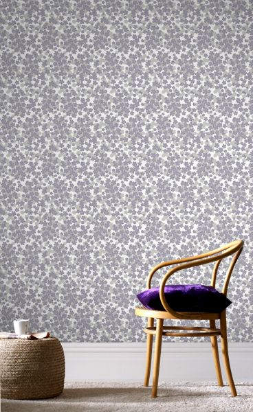Graham & Brown Purple Woodstock Wallpaper