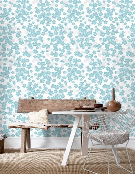 Graham & Brown Teal Woodstock Wallpaper