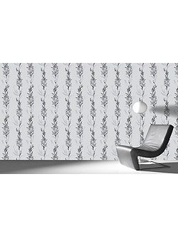 Silver Jardin Wallpaper