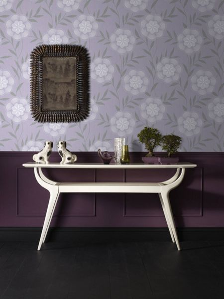 Graham & Brown Lavender Flora Wallpaper
