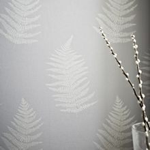 Graham & Brown Grey Verdant Wallpaper