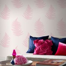 Graham & Brown Pink Verdant Wallpaper