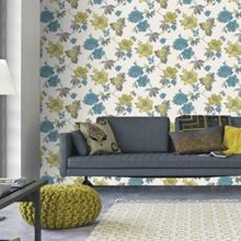 Graham & Brown Lime Eden Wallpaper