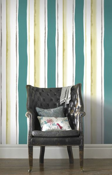 Graham & Brown Teal Waterfall Wallpaper