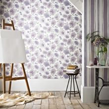 Graham & Brown Lavender Poppies Wallpaper
