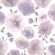 Lavender Poppies Wallpaper