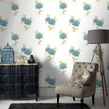 Graham & Brown Teal Lulu Wallpaper