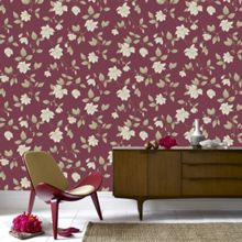 Graham & Brown Red Amy Wallpaper