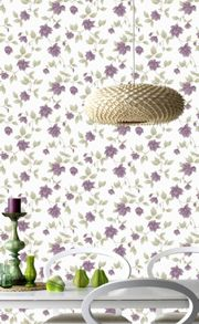 Graham & Brown Plum Amy Wallpaper