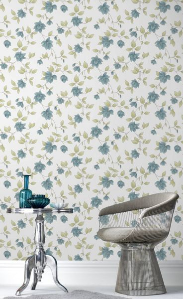 Graham & Brown Teal Amy Wallpaper