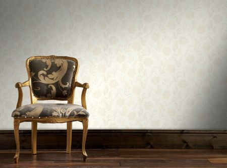 Graham & Brown White Jacquard Floral Wallpaper