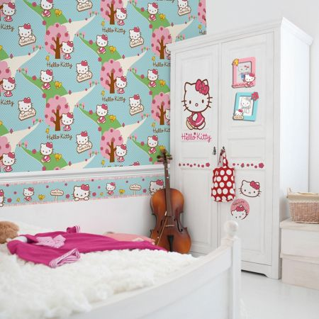Graham & Brown Hello Kitty Woodland Stroll Wallpaper