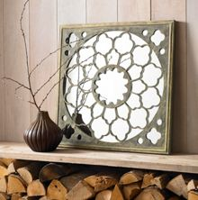 Graham & Brown Silver Fretwork Mirror