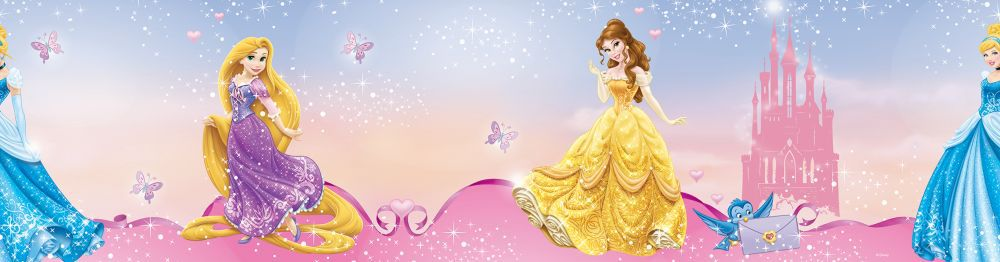 Pink Pretty as a Disney Princess Border