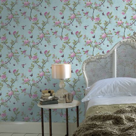Graham & Brown Duck Egg Chinoiserie Wallpaper