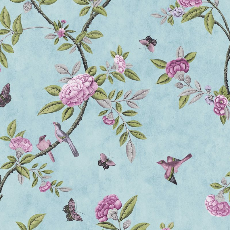 Duck Egg Chinoiserie Wallpaper