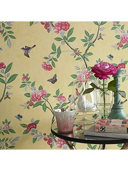 Imperial Yellow Chinoiserie Wallpaper