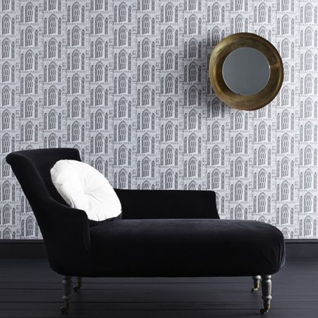 Graham & Brown Grey Stone Folly Wallpaper