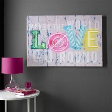 Neon Love Canvas Wallart