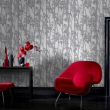 Graham & Brown Grey Printed Branches Wallpaper