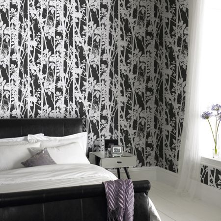 Graham & Brown Black Printed Branches Wallpaper
