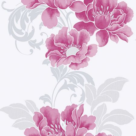 Graham & Brown Cascada Floral Fuchsia Wallpaper