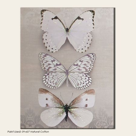 Graham & Brown Beige butterfly trio canvas wallart