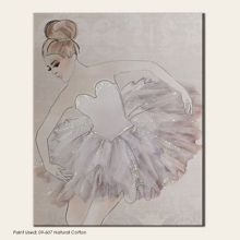 Graham & Brown Beige classic ballerina canvas wallart