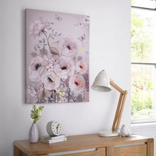 Graham & Brown Beige watercolour bloom canvas wallart