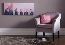 Pink early morning tweets canvas wallart