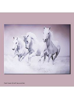 White galloping waves canvas wallart