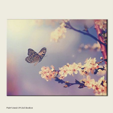 Graham & Brown Pink Butterfly Branch Canvas Wallart